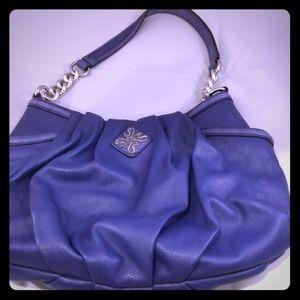 Simply Vera Wang Purple Pleated Hobo Purse Handbag